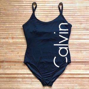 Calvin Klein one piece swimsuit black size 14